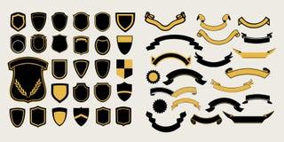 Méga un ensemble de calibres Chevrons et rubans pour la conception des logos Photographie stock
