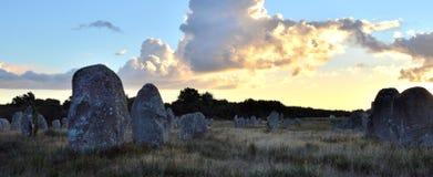 Mégalithes bretons de Carnac Photographie stock libre de droits