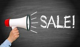 Mégaphone annonçant la vente Images stock