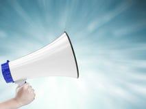 Mégaphone appelle Photographie stock libre de droits