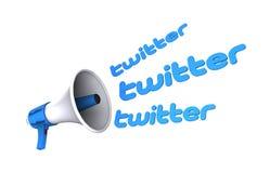 Mégaphone de Twitter Photos libres de droits
