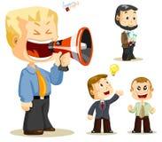 Mégaphone. Gens d'affaires illustration de vecteur