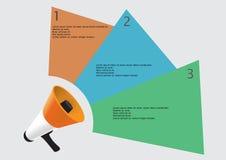 Mégaphone infographic illustration de vecteur