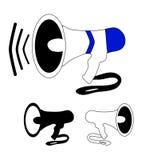 Mégaphone noir et blanc Photos libres de droits