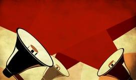 Mégaphone ou haut-parleur sur le fond grunge Image libre de droits