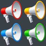 Mégaphones. Images libres de droits