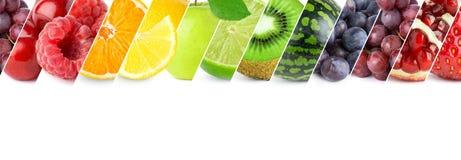 Mélangé des fruits de couleur illustration de vecteur