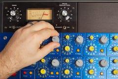 Mélange audio sur la plate-forme d'effets photographie stock