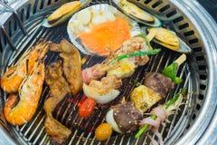 Mélange coréen de style grillé image libre de droits