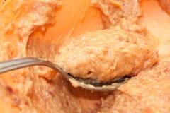 Mélange cru pour faire des boulettes de viande Image libre de droits