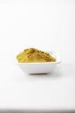 Mélange d'épice de suneli de Khmeli sur la nappe Images stock