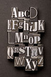 Mélange d'alphabet Photo stock