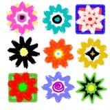 Mélange d'art de bruit de pouvoir de fleur illustration de vecteur