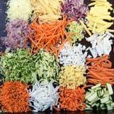 Mélange de bons légumes découpés en tranches Image libre de droits
