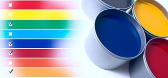 Mélange de couleur Photographie stock libre de droits