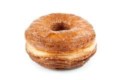Mélange de croissant et de beignet d'isolement sur le blanc Photographie stock libre de droits