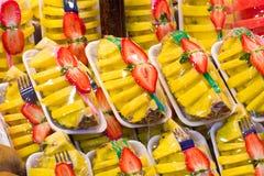 Mélange de fraise d'ananas Photographie stock libre de droits