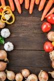 Mélange de légumes sur la table Images stock