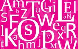 Mélange de lettre Image stock