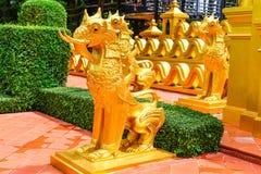 Mélange de lion avec l'éléphant Images stock
