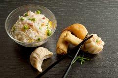 Mélange de nourriture de porcelaine Photographie stock
