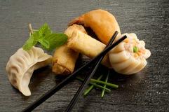 Mélange de nourriture de porcelaine Image stock