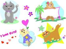 Mélange de page de chat illustration stock