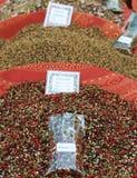 Mélange de poivron noir et rouge Photographie stock