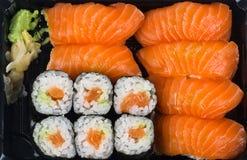 Mélange de saumons de sushi Image libre de droits