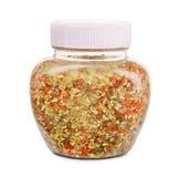 Mélange de sel chevronné Photos stock