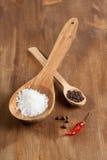 Mélange de sel et du poivre images stock