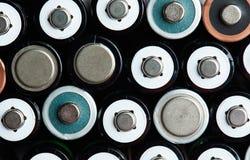 Mélange des batteries de taille d'aa Photos stock