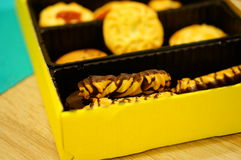 Mélange des biscuits Image libre de droits