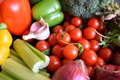 Mélange des légumes sains frais crus - plan rapproché Photographie stock libre de droits