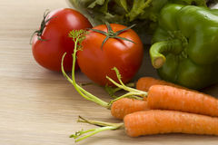 Mélange des légumes sur la salade Image stock