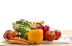 Mélange des légumes sur la salade Images libres de droits