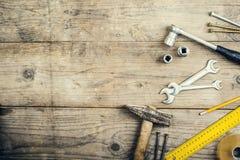 Mélange des outils de travail Image stock