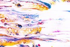 Mélange des peintures acryliques L'illustration moderne avec repère et éclabousse de la peinture de couleur Texture de marbre liq illustration de vecteur