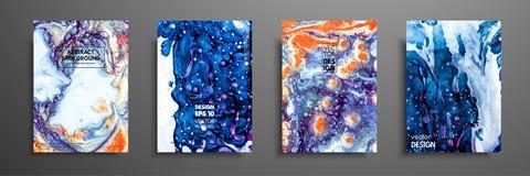 Mélange des peintures acryliques Texture de marbre liquide Art liquide Applicable pour la couverture de conception, présentation, illustration stock