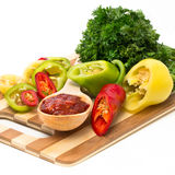 Mélange des piments et du poivron doux Images stock