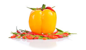 Mélange des poivrons de piment Image libre de droits