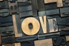 Mélange en bois d'amour Photo libre de droits