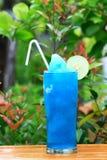 Mélange hawaïen bleu de cocktail photographie stock