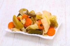 Mélange mariné de légumes Images libres de droits