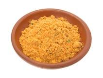 Mélange sec d'ingrédients de marinade de mesquite dans la cuvette Photographie stock libre de droits