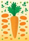 Mélange végétal avec la carotte et les pois Photos libres de droits