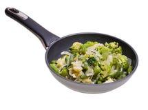 Mélange végétal dans la casserole Image libre de droits