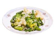 Mélange végétal de chou-fleur, de brocoli et de haricots verts Images stock