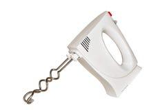 Mélangeur électrique blanc de main avec des becs Photographie stock