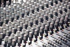 Mélangeur audio Images libres de droits